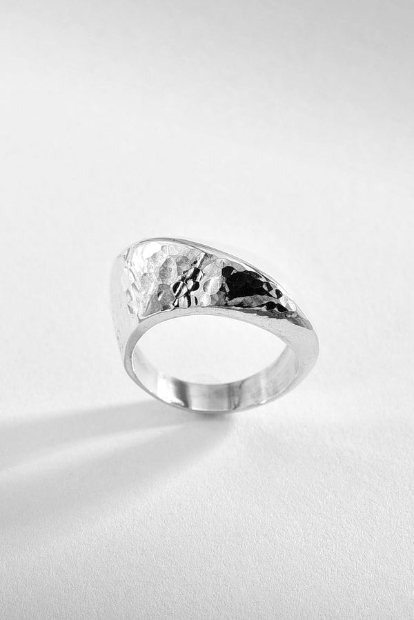 Hammered & Forged Silver Ring