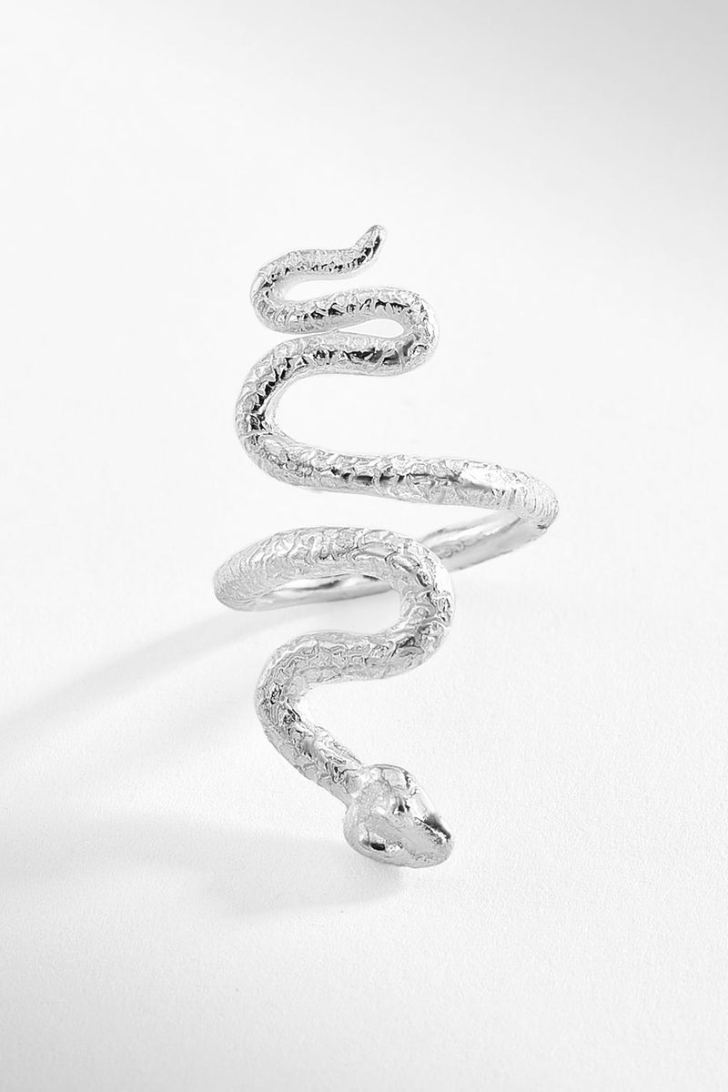 Wrapped Snake Sterling Silver Ring
