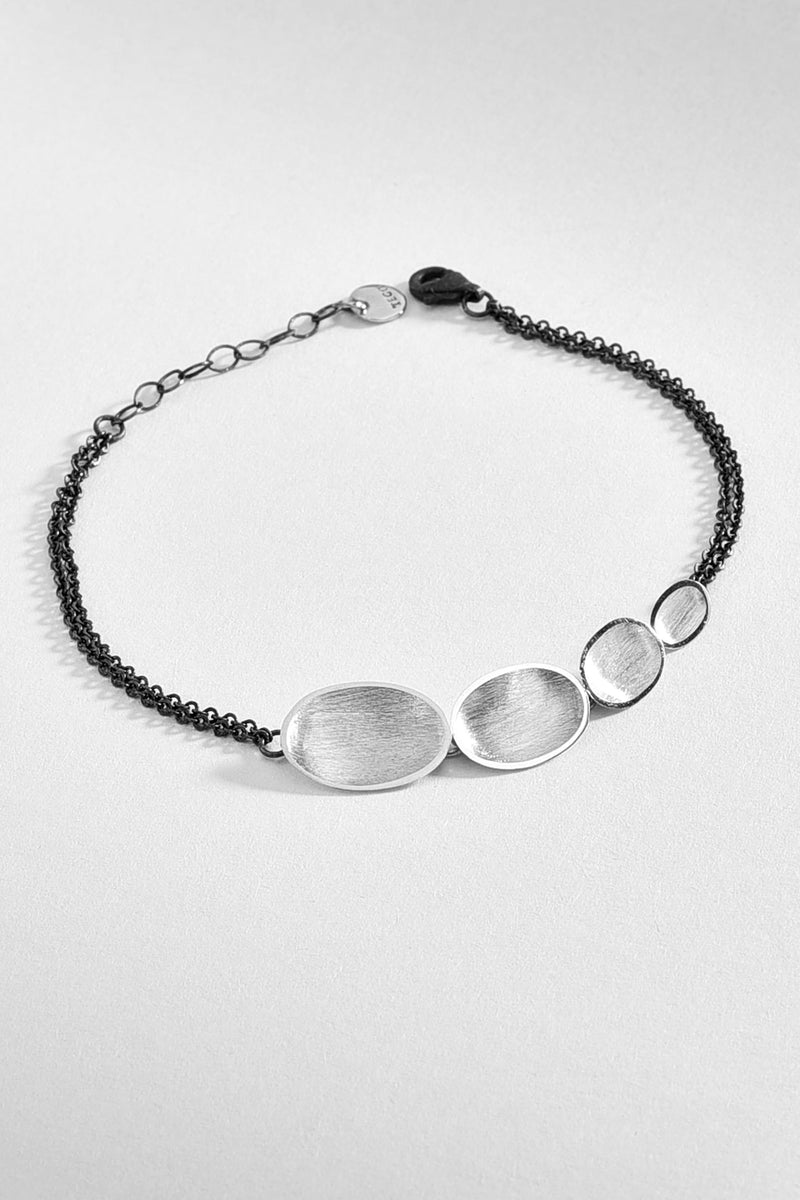 Oval Plate Brushed Bracelet