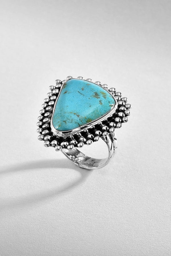 Traditional Turquoise Silver Ring