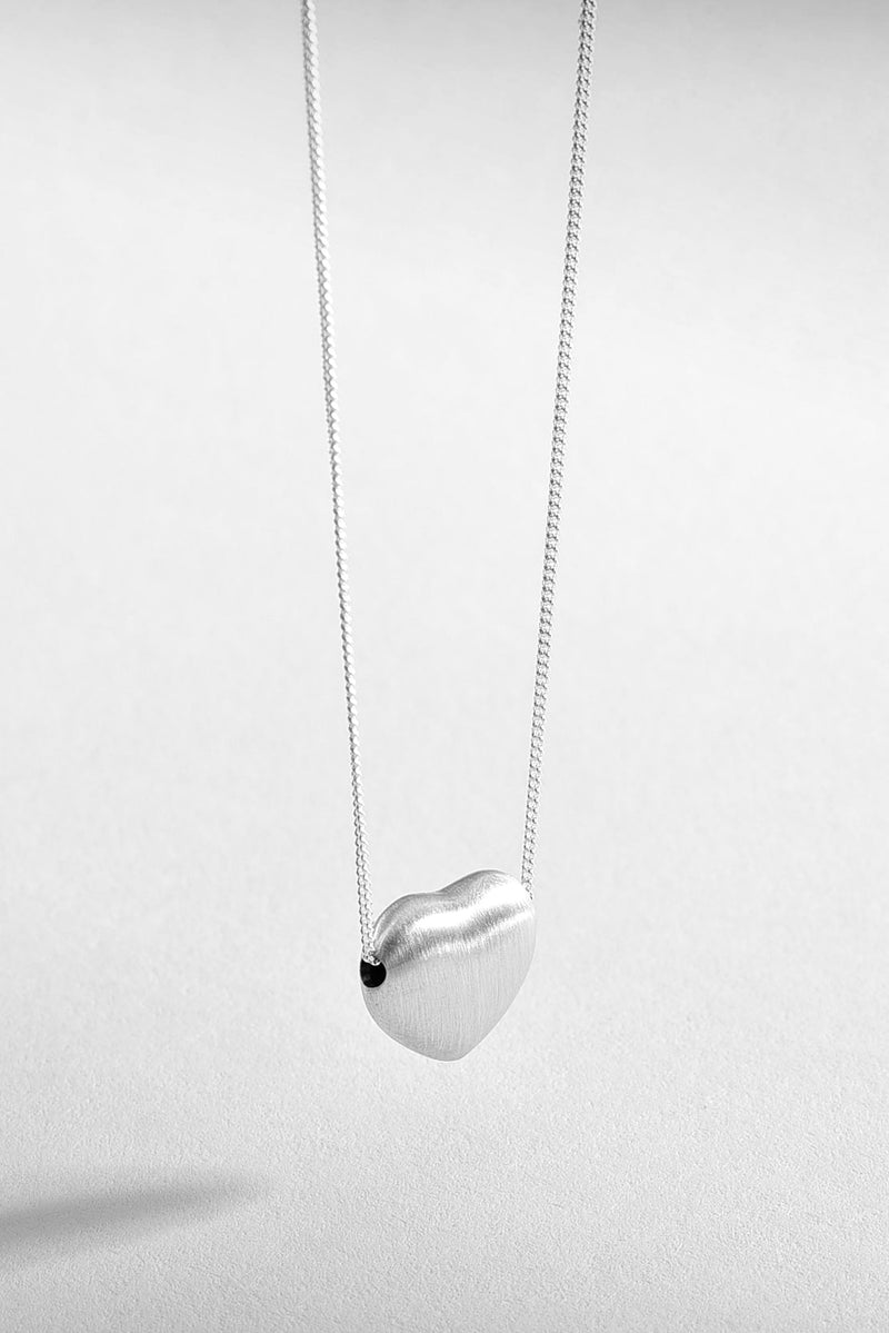 Hanging Heart Sterling Silver Necklace