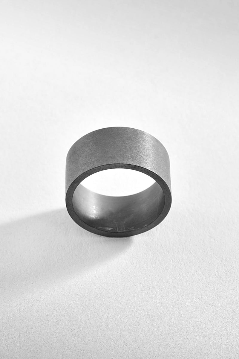 Brushed Band Silver Ring