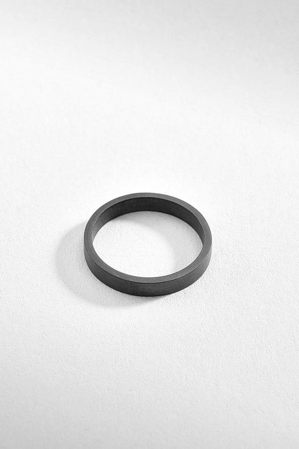 Black Textured Sterling Silver Ring