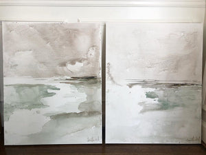 Watercolor Canvas Pair