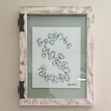 Cotton Wreath OR Initial - Watercolor Commission