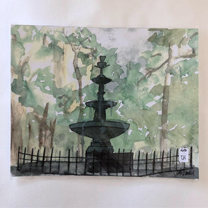 Bienville Square Fountain Print