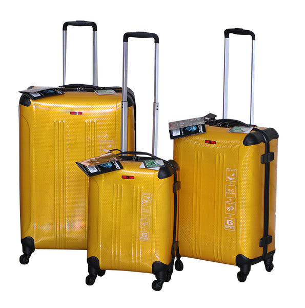 Giannotti Set of 3 Diamond Effect Trolley Cases