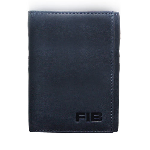 FIB Genuine Leather Mens Trifold Wallet
