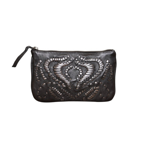 Giannotti Genuine Leather Embroidered Clutch Bag/Purse