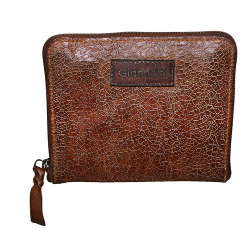 Giannotti Crackle Genuine Leather Small Clutch Purse Bag