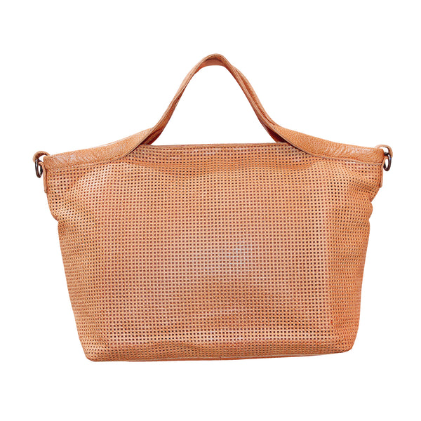 Giannotti Genuine Leather Square Laser Cut Bag