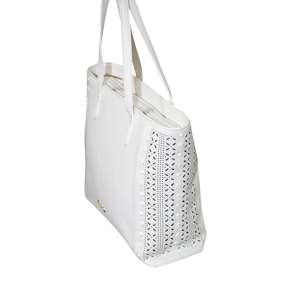 Giannotti Laser Cut Out Shopper Bag