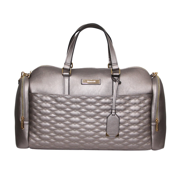 Giannotti Metallic Quilted Overnight Bag
