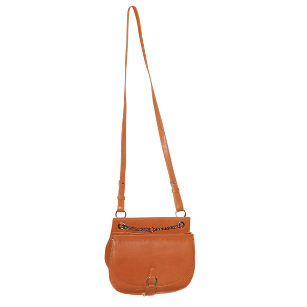 FUTURA Genuine Leather Cross Body Bag with Chain