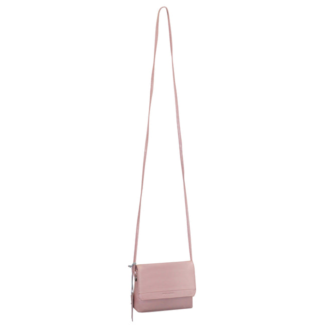 Futura Leather Sling Bag with Flap Over Tab