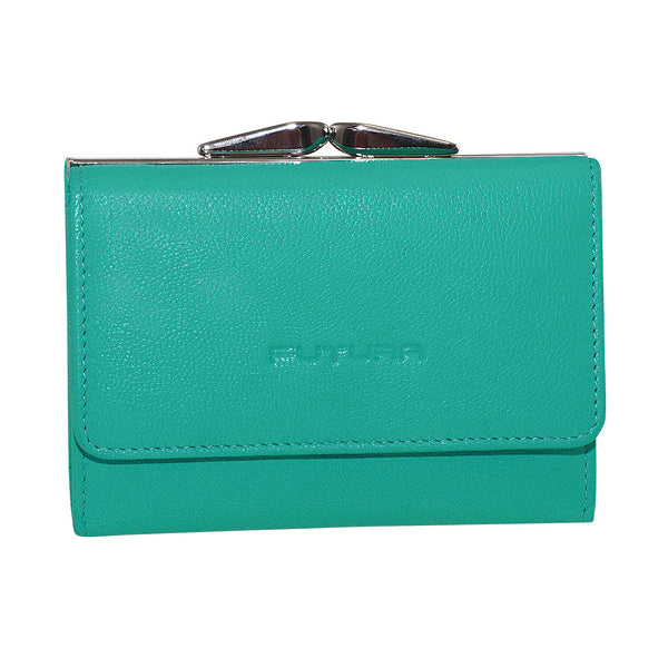 Futura Leather Small Ladies Purse with Clip Coin