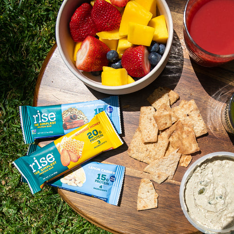Picnic food with Rise Bar
