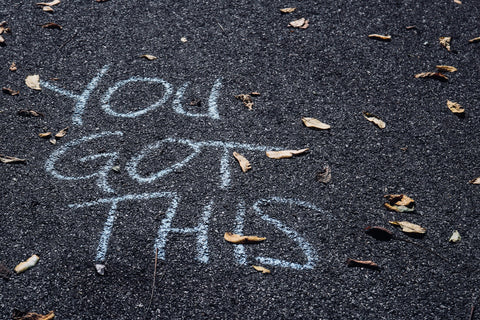 You got this written in chalk on the street