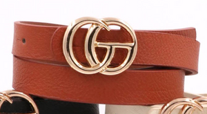 Faux Gucci Belt in Camel - Sugar & Spice Apparel Boutique