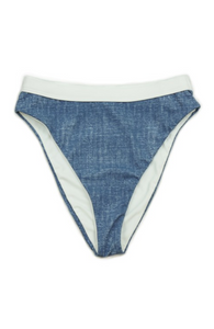 Blue Jean Baby High Waisted Bikini Bottoms - FINAL SALE - Sugar & Spice Apparel Boutique
