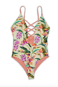 Somewhere in Paradise One Piece Swimsuit - FINAL SALE - Sugar & Spice Apparel Boutique