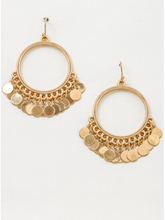Trevi Coin Hoop Earrings in Gold - Sugar & Spice Apparel Boutique