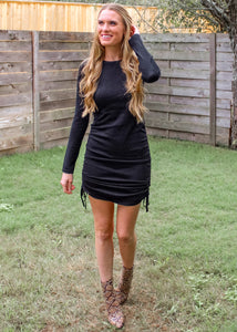 Long Story Short Adjustable Dress in Black - Sugar & Spice Apparel Boutique