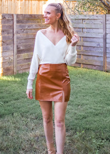 Good Days Patent Leather Skirt - Sugar & Spice Apparel Boutique
