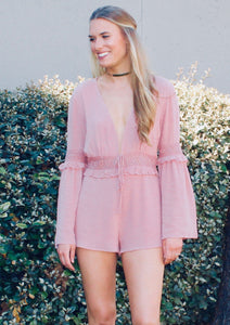 Feeling Myself Bell Sleeve Romper - FINAL SALE - Sugar & Spice Apparel Boutique