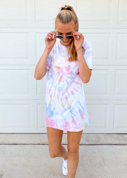Taste the Rainbow Oversized Tie Dye Tee