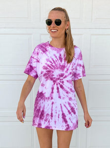 Purple Haze Oversized Tie Dye Tee