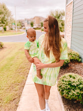 Mama & Baby Matching Tie Dye Tees in Limelight (Mama Sizes)