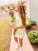 Mama & Baby Matching Tie Dye Tees in Limelight (Baby Sizes)