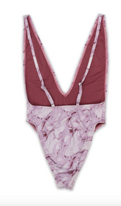 Mauve Marble Skies One Piece Swimsuit - FINAL SALE - Sugar & Spice Apparel Boutique