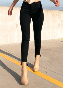 Raw Truth Skinny Jeans with Destroyed Hem - Sugar & Spice Apparel Boutique
