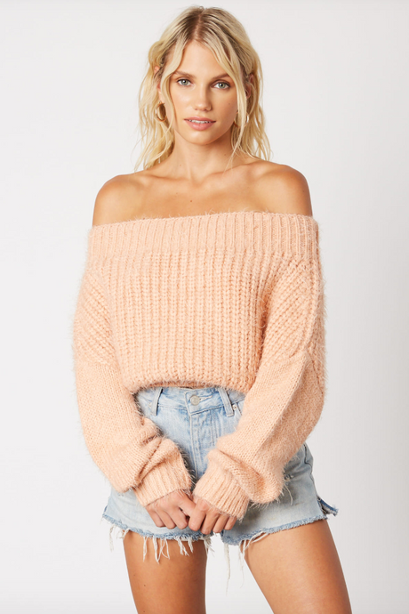 Warm Me Up Off Shoulder Sweater - Sugar & Spice Apparel Boutique