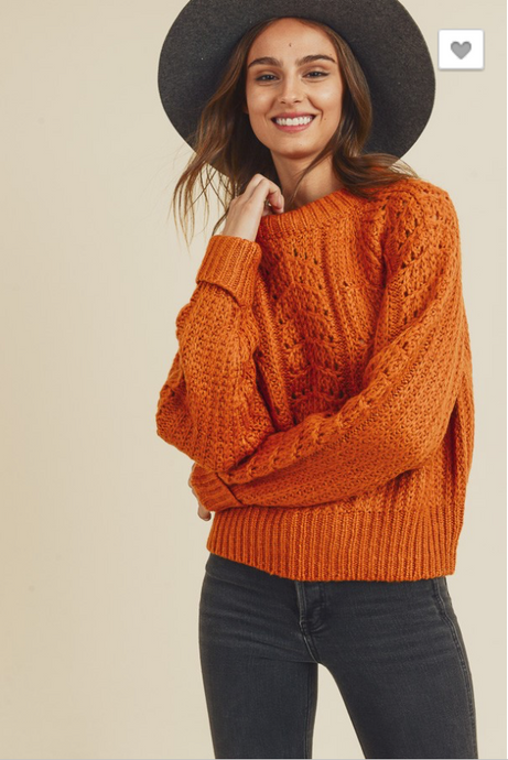 Close To You Knit Sweater in Marmalade - Sugar & Spice Apparel Boutique