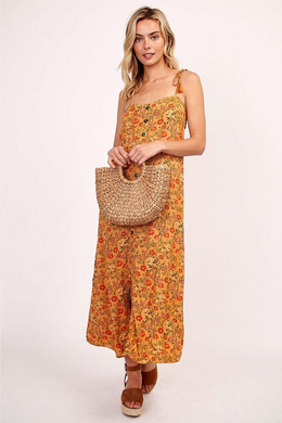 Golden Poppy Midi Dress - Sugar & Spice Apparel Boutique