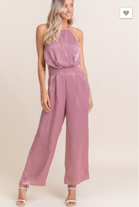 Making Me Blush Satin Jumpsuit - Sugar & Spice Apparel Boutique