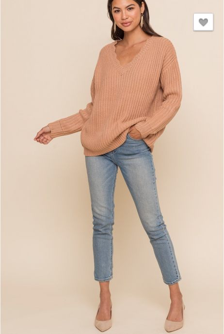 Pumpkin Spice Scallop Neck Sweater - Sugar & Spice Apparel Boutique
