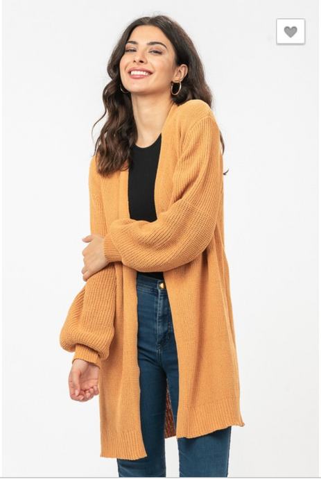 Sweet Escape Cardigan in Mustard