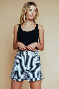 Use Somebody Striped Shorts - Sugar & Spice Apparel Boutique