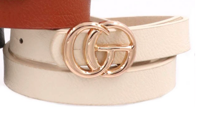 Faux Gucci Belt in Ivory - Sugar & Spice Apparel Boutique