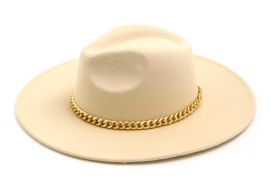Chain of Fools Rancher Hat in Cream - Sugar & Spice Apparel Boutique