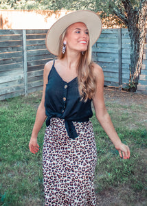 Hometown Girl Button Down Tank - Sugar & Spice Apparel Boutique