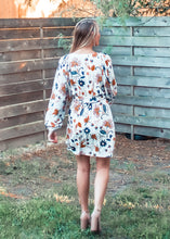 Orange Blossom Balloon Sleeve Wrap Dress - Sugar & Spice Apparel Boutique