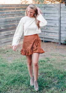 Like a Girl Ruffle Wrap Skirt - Sugar & Spice Apparel Boutique