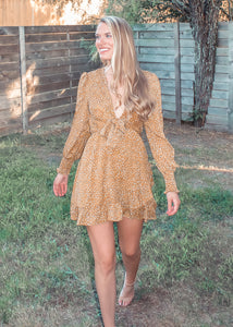 Like Me Better Ruffle Dress in Mustard - Sugar & Spice Apparel Boutique