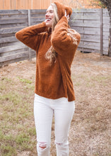 Autumn Haze Fuzzy Hooded Sweater - Sugar & Spice Apparel Boutique