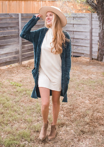 Fireside Chats Cardigan in Emerald - Sugar & Spice Apparel Boutique